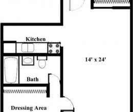 0 bed / 1 bath / 550 sq. ft.